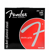FENDER Struny na e. kytaru 9 - 42  LIGHT 250L sada